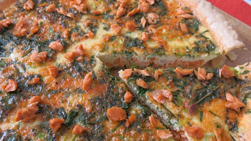 Bristol Bay Wild Sockeye Salmon quiche