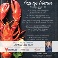 Lobster 101, Lobster, Family Dinner, Events, Seafood Events