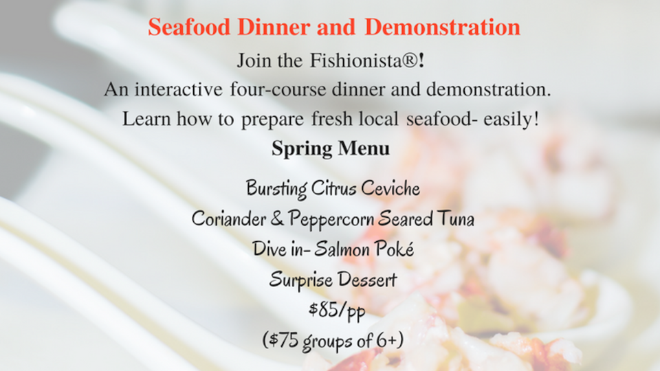 Seafood Cooking Class, Cooking Class, Seafood10, Cooking Class, Seafood101